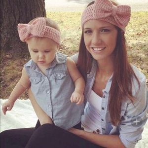 Mother and Daughter Knitted Headband